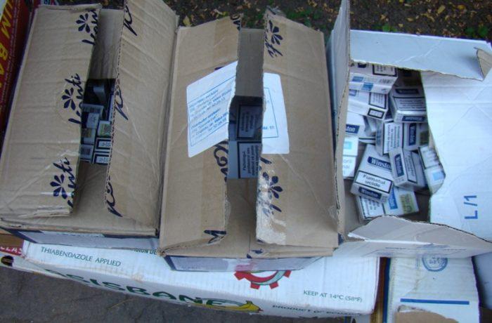 Ţigări și  alcool, confiscate de polițiști