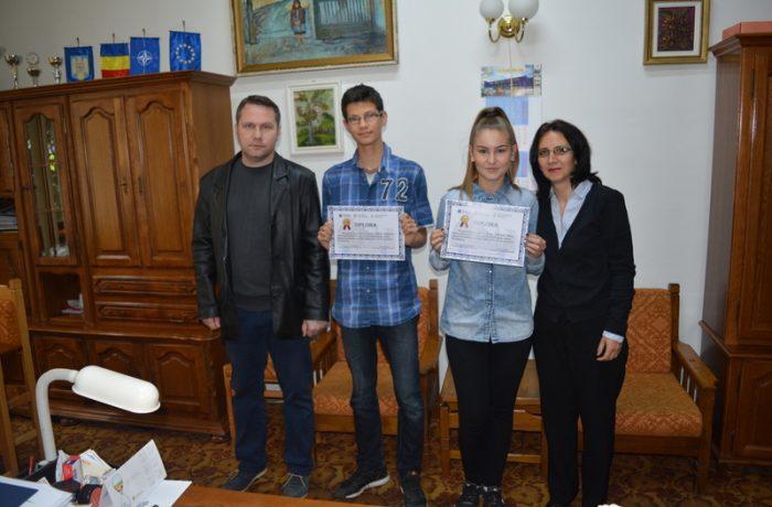 """Doi elevi de la C.N. ,,Andrei Mureșanu"""" Dej, premiați la Concursul de istorie """"Spune povestea locului tău"""""""