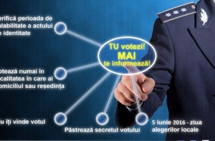"""MAI a lansat campania  """"Tu votezi, MAI te informează"""""""