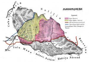 Harta Maramureșului în 1919