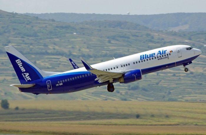 Blue Air leagă Clujul de Timişoara şi Iaşi