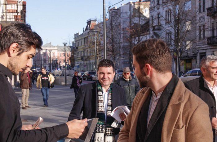 Nicușor Dan, președintele USR,  în Cluj și prin județ