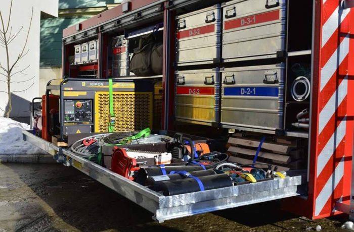 ISU Cluj a primit un container pentru intervenții în caz de cutremur