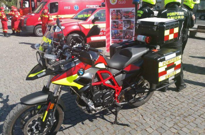 Motociclete SMURD pe străzile municipiului Cluj