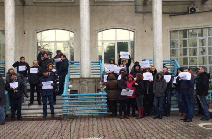 Protest spontan la Casa de Pensii Cluj