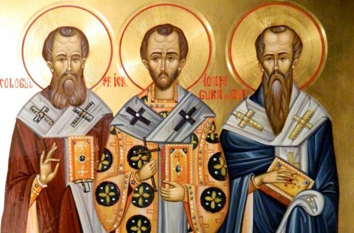Sfinții Trei Ierarhi – Vasile, Grigorie și Ioan, protectorii școlilor teologice