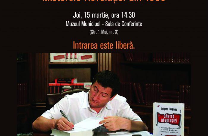 Grigore Cartianu își va lansa cărțile la Dej