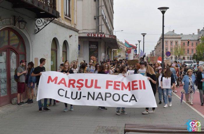 Marș împotriva violenței domestice, la Cluj