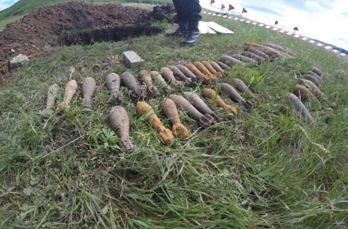 Muniții și elemente de muniții, distruse de echipa pirotehnică a ISU Cluj