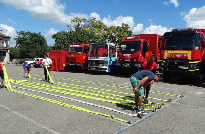 Pompierii clujeni, în concurs la Satu Mare