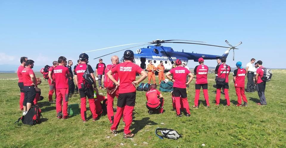 Exerciții de salvare aero în zona montană a județului Cluj