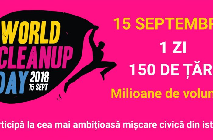 Campania World Cleanup Day, în 15 septembrie!