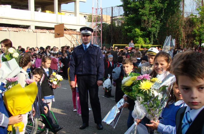 Polițiștii, la datorie, la începutul noului an școlar