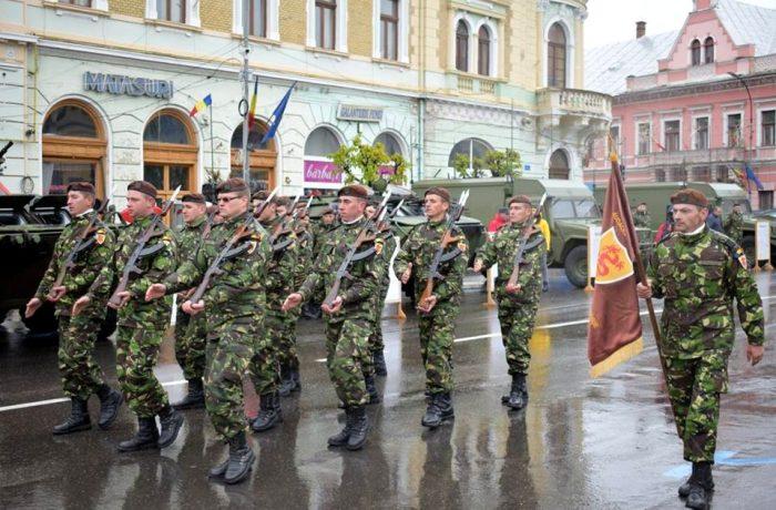 Ziua Armatei Române, sărbătorită la Dej