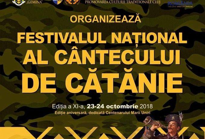 Interpreți din toată țara vor concura în cadrul Festivalului Naţional al Cântecului de Cătănie, ediţia a XI-a