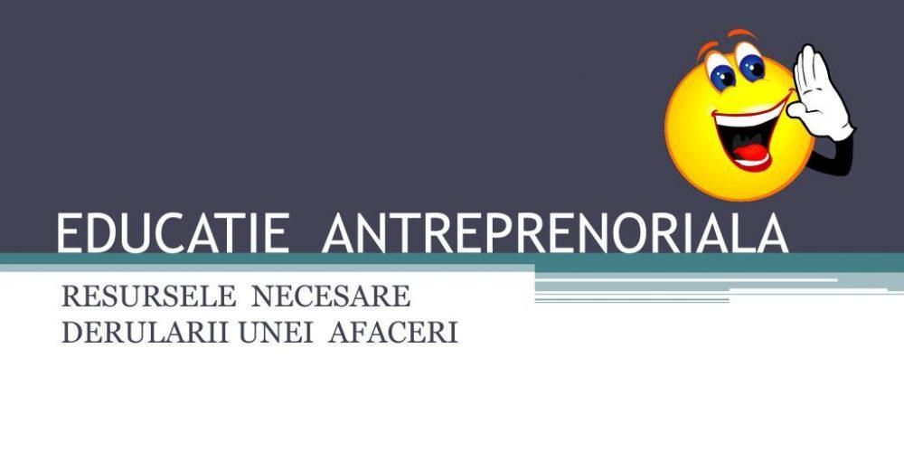Proiect: cursuri de educație antreprenorială în licee