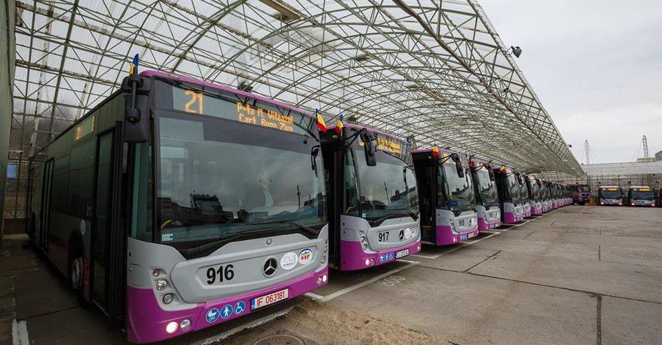 30 de autobuze Mercedes cu dotări de ultimă generație au fost puse în circulație miercuri,  la Cluj-Napoca