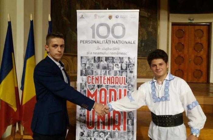 """Doi elevi de la CNAM Dej pe primele două locuri, la concursul """"În slujba țării și a neamului românesc"""""""
