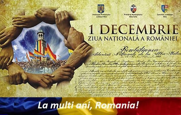 PROGRAMUL de 1 DECEMBRIE 2018, la Alba Iulia, de Centenarul MARII UNIRI