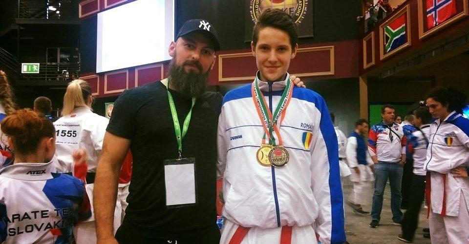 Dejeanul Dorin Pănescu, patru medalii de aur la Campionatelor Europene de Karate din Malta