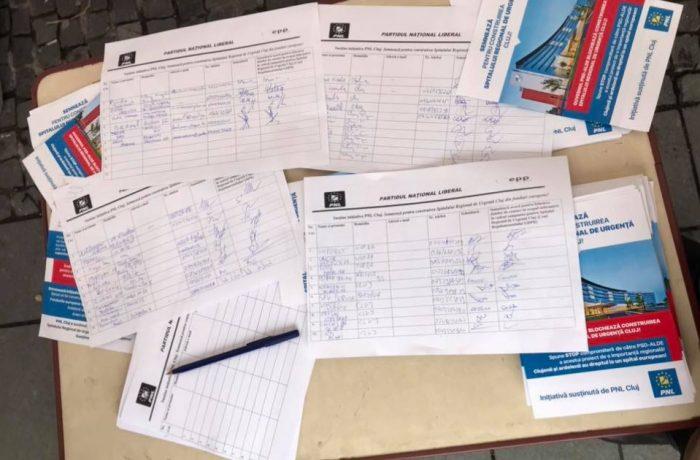 Liberalii clujeni strâng semnături pentru  construirea Spitalului Regional de Urgență Cluj