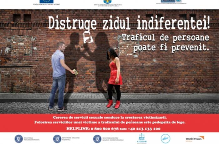 Lansarea campaniei de prevenire a traficului de persoane în scopul exploatării sexuale