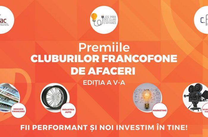 Elevi de la CNAM pe  podiumul Premiilor Cluburilor Francofone de Afaceri