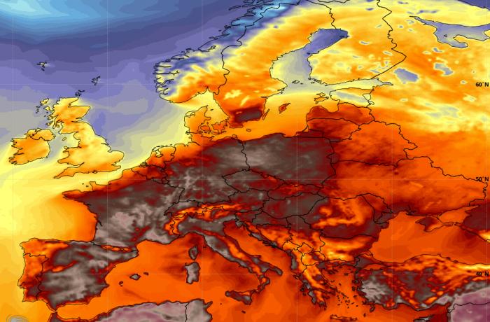 """Un val  de căldură extremă """"topește"""" Europa!"""