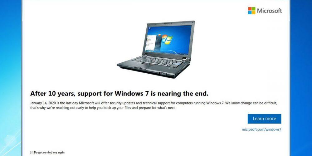 Microsoft renunță la suportul pentru Windows 7