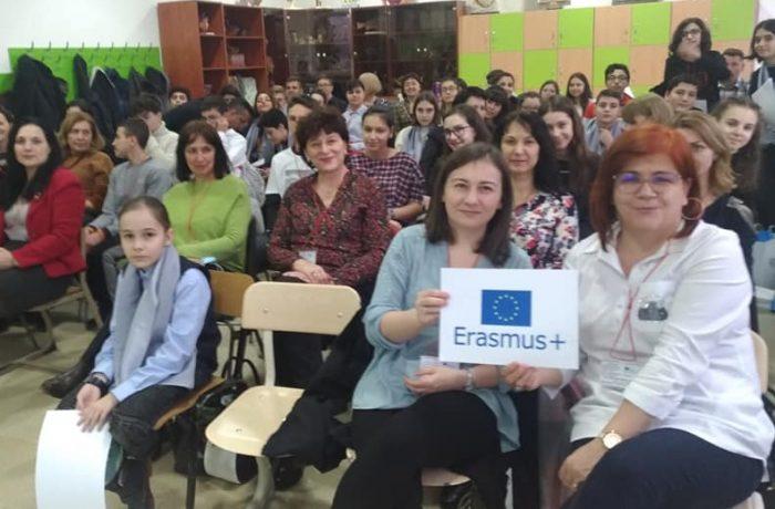 "Eveniment Erasmus +, la Școala ""Avram Iancu"""