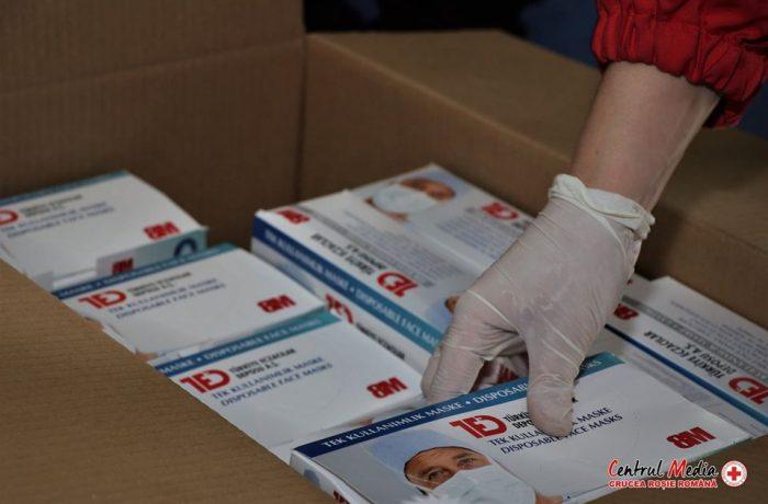Un milion de măști sanitare, achiziționate de Crucea Roșie Română