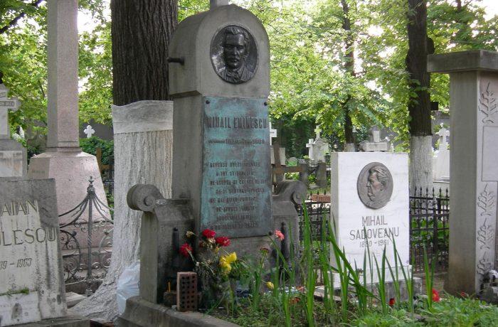 Slujbă de pomenire și parastas, la mormântul lui Mihai Eminescu