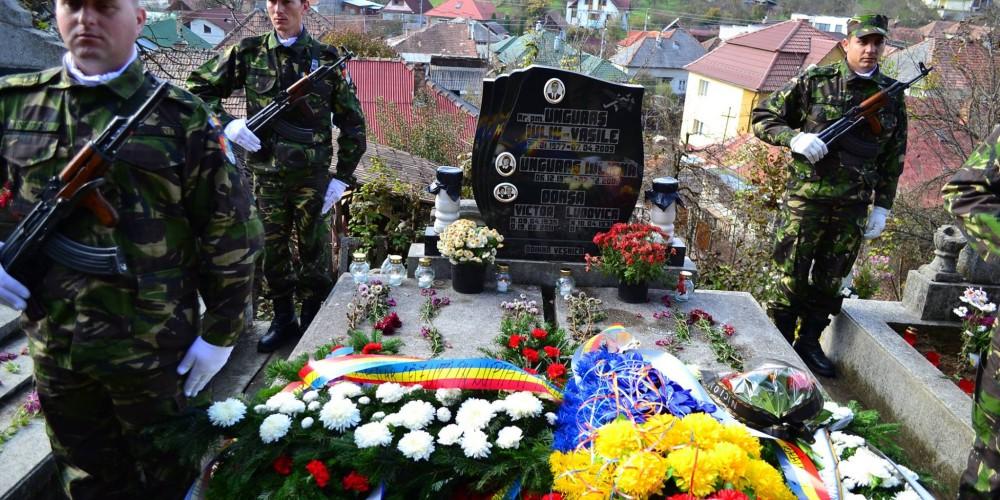 Eroul Maior (pm) Vasile Unguraş, comemorat la Dej