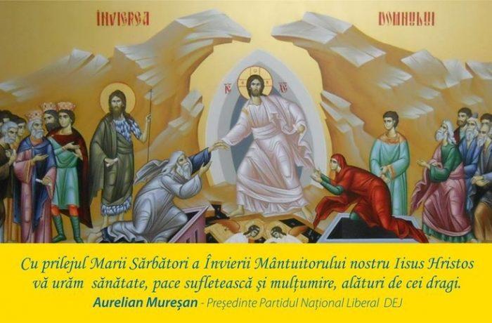 Mesajul viceprimarului Aurelian Mureşan către dejeni, cu prilejul Sărbătorii Paştelui