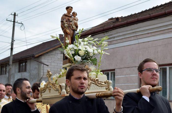 Flori de har în  Dej, la sărbătoarea Sfântului  Anton
