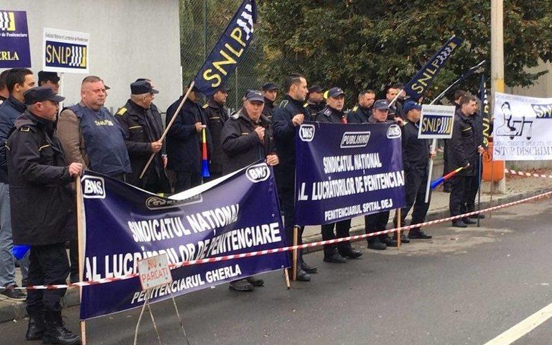 Sindicaliștii penitenciarelor din Dej și Gherla, au protestat împreună!