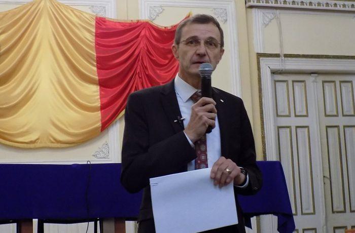 Academicianul Ioan Aurel Pop, la Dej