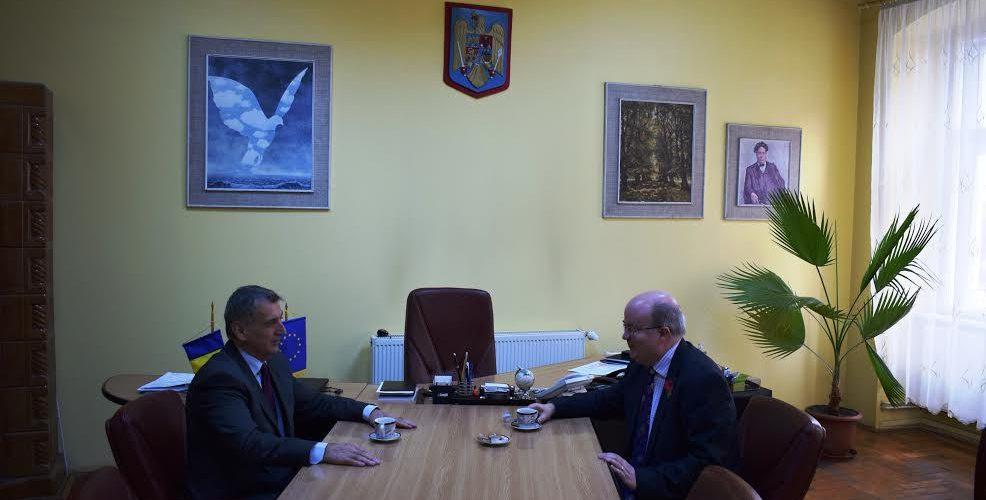 Excelența Sa Paul Brummell, Ambasadorul Marii Britanii, la Dej