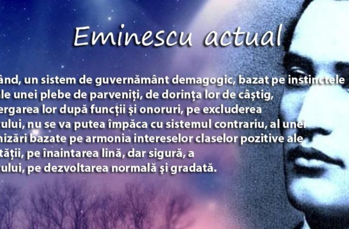 Citindu-l pe Eminescu…