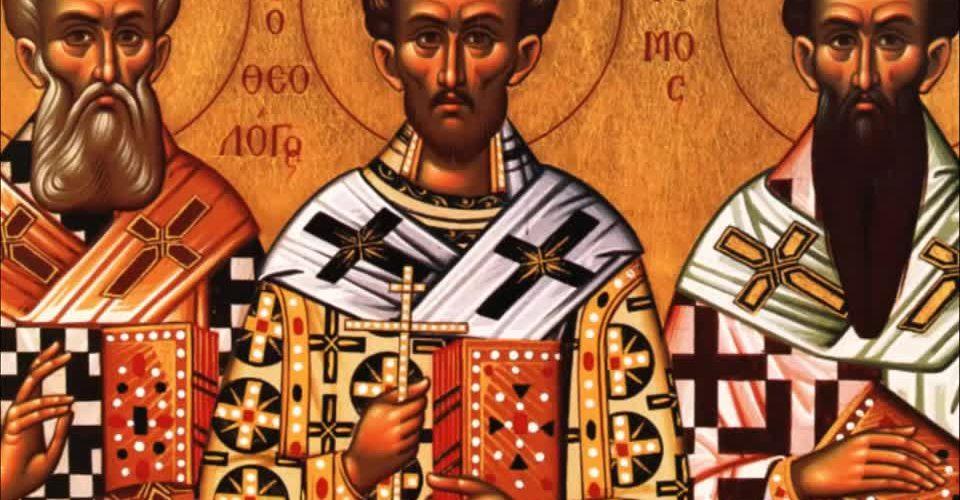 Astăzi este praznicul SFINȚILOR TREI IERARHI: Vasile cel Mare, Grigore Teologul și Ioan Gură de Aur