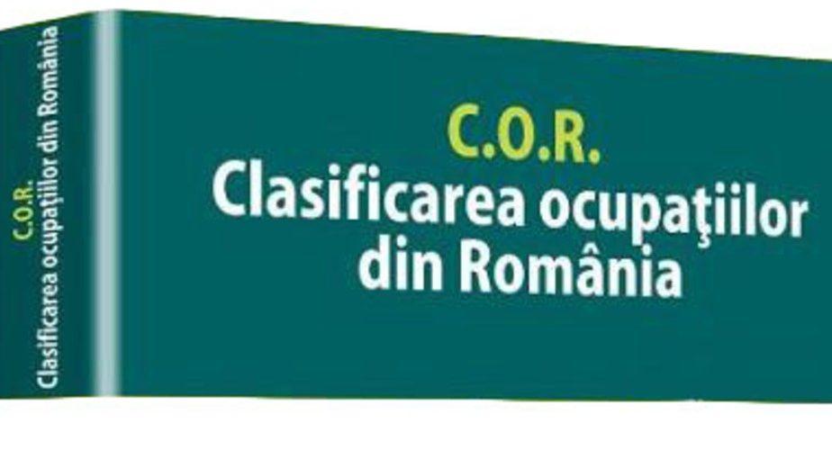 Denumiri SF pe lista ocupațiilor din România (COR)