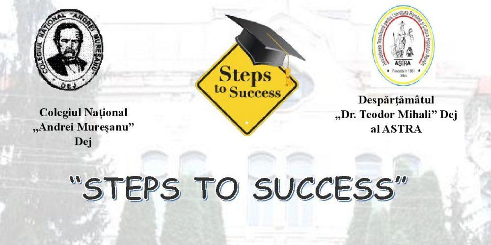 Pașii spre succes  încep în școală!
