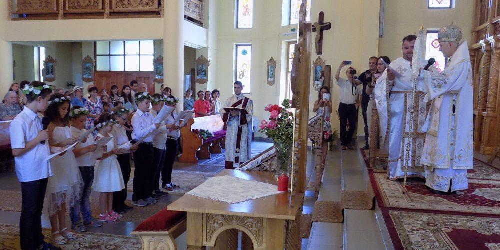 PS Florentin Crihălmeanu în vizită pastorală, la Dej