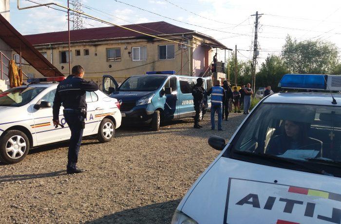 Poliția în acțiune, la Dej