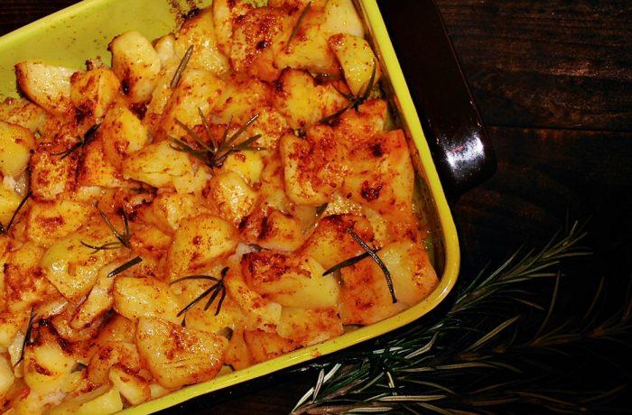 Cartofi de post cu usturoi, la cuptor