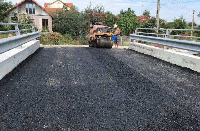S-a finalizat reconstrucția podețului peste Valea Merilor, din Sînmărghita