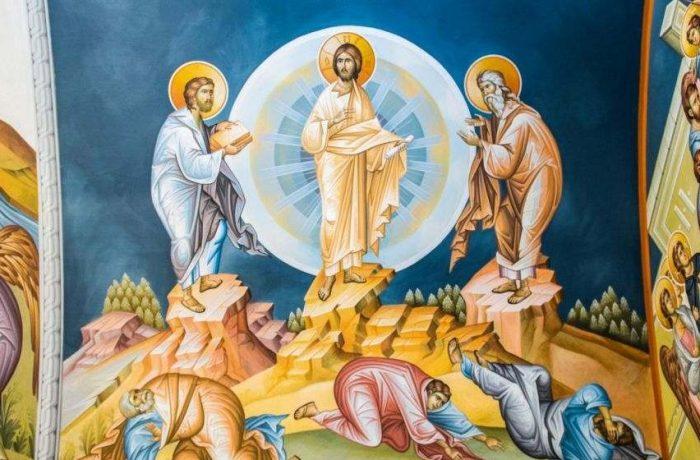 Schimbarea la Faţă a Domnului, arătarea Sfintei Treimi