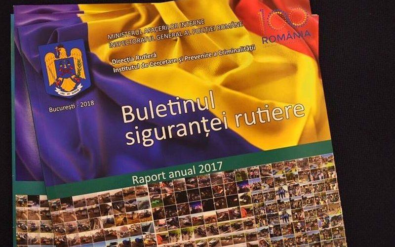 """Poliția Română a publicat ,,Buletinul siguranței rutiere. Raport anual 2017."""""""