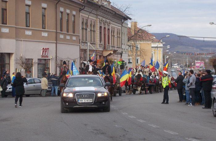 În drumul lor spre Alba Iulia, maramureșenii s-au oprit și la Dej