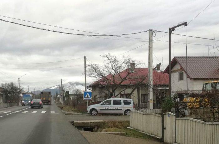 Machete anti-viteză, amplasate pe DN 17  Bistrița-Dej